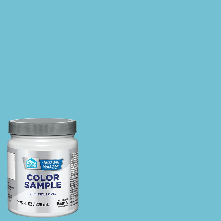 Hgtv Home By Sherwin Williams Auckland Blue Interior Paint Sample Actual Net Contents 8 Fl Oz