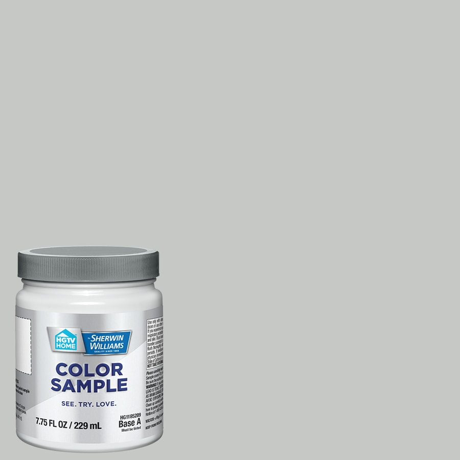 Hgtv Home By Sherwin Williams Grey Sanctuary Interior Eggshell Paint Sample Actual Net Contents