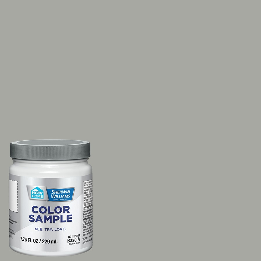 shop hgtv home by sherwin williams essex grey interior eggshell paint