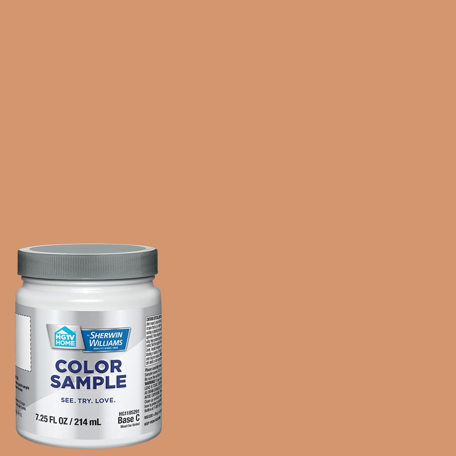Hgtv Home By Sherwin Williams Studio Copper Interior Paint Sample Actual Net Contents 8 Fl Oz