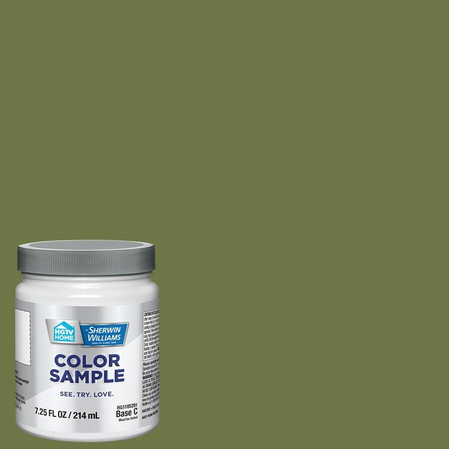 hgtv home by sherwin williams garden spot interior eggshell paint sample actual net contents - Garden Spot