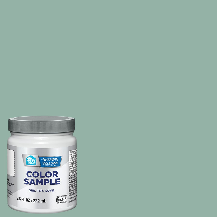 HGTV HOME by Sherwin-Williams Salt Marshes Interior Eggshell Paint Sample (Actual Net Contents: 31-fl oz)