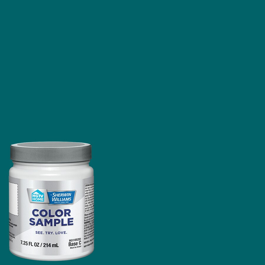Hgtv Home By Sherwin Williams Sonoran Teal Interior Paint Sample Actual Net Contents