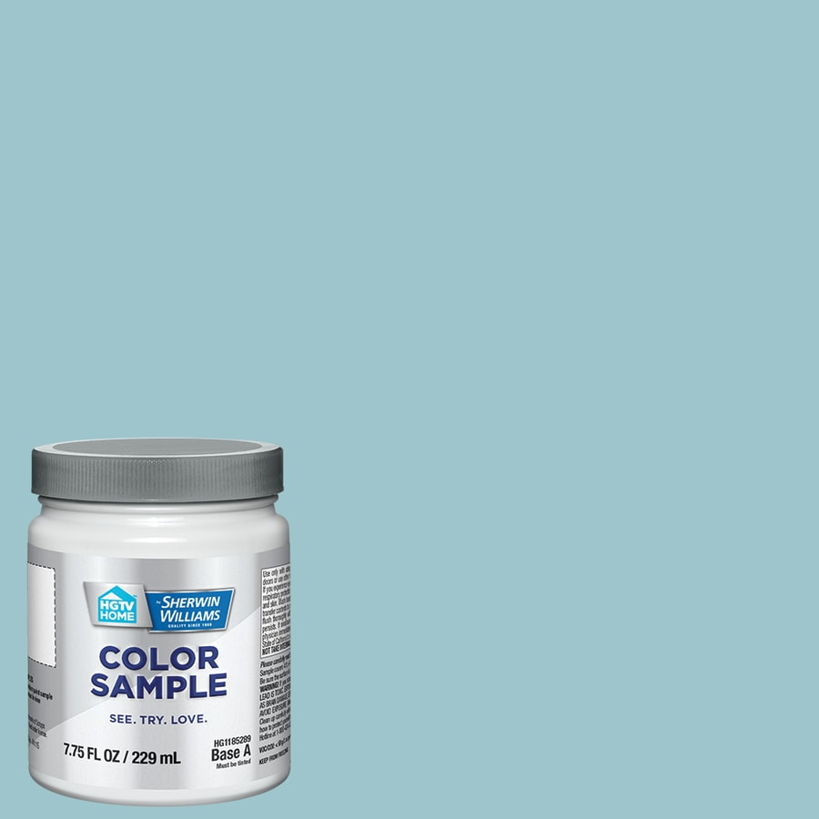 Hgtv Home By Sherwin Williams Lingering Aqua Interior Paint Sample Actual Net Contents