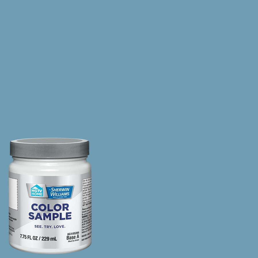 Hgtv Home By Sherwin Williams Agave Blue Interior Paint Sample Actual Net Contents 8 Fl Oz