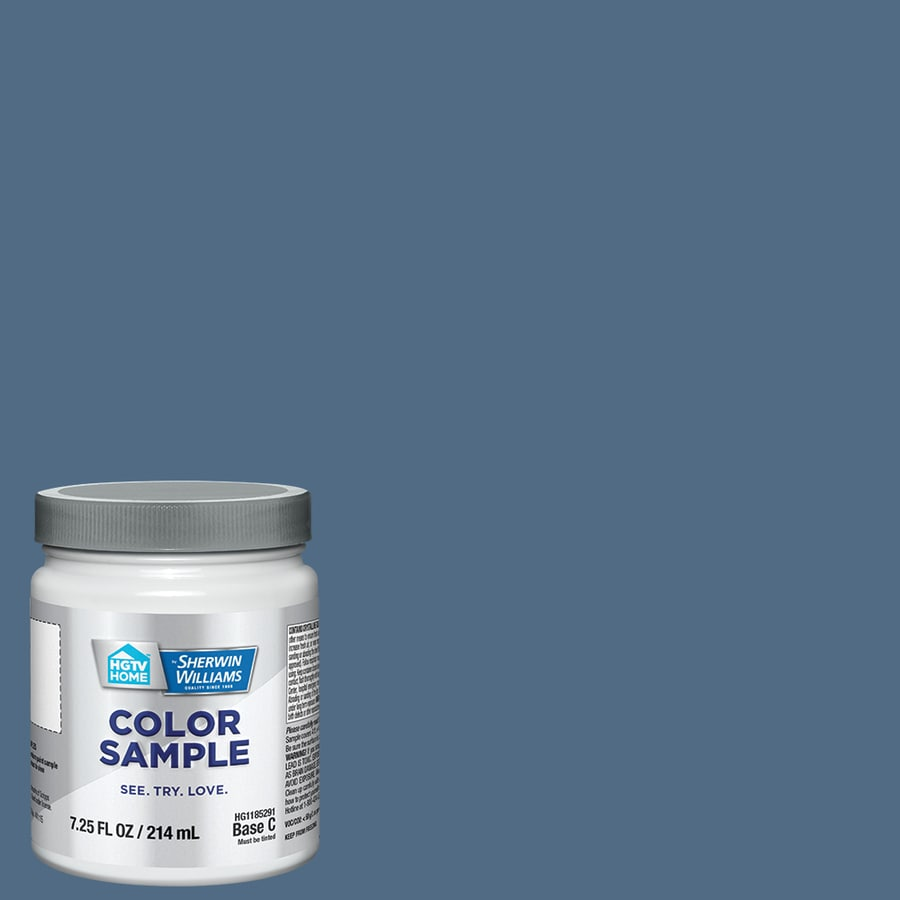 Hgtv Home By Sherwin Williams Denim Interior Paint Sample Actual Net Contents 8 Fl Oz