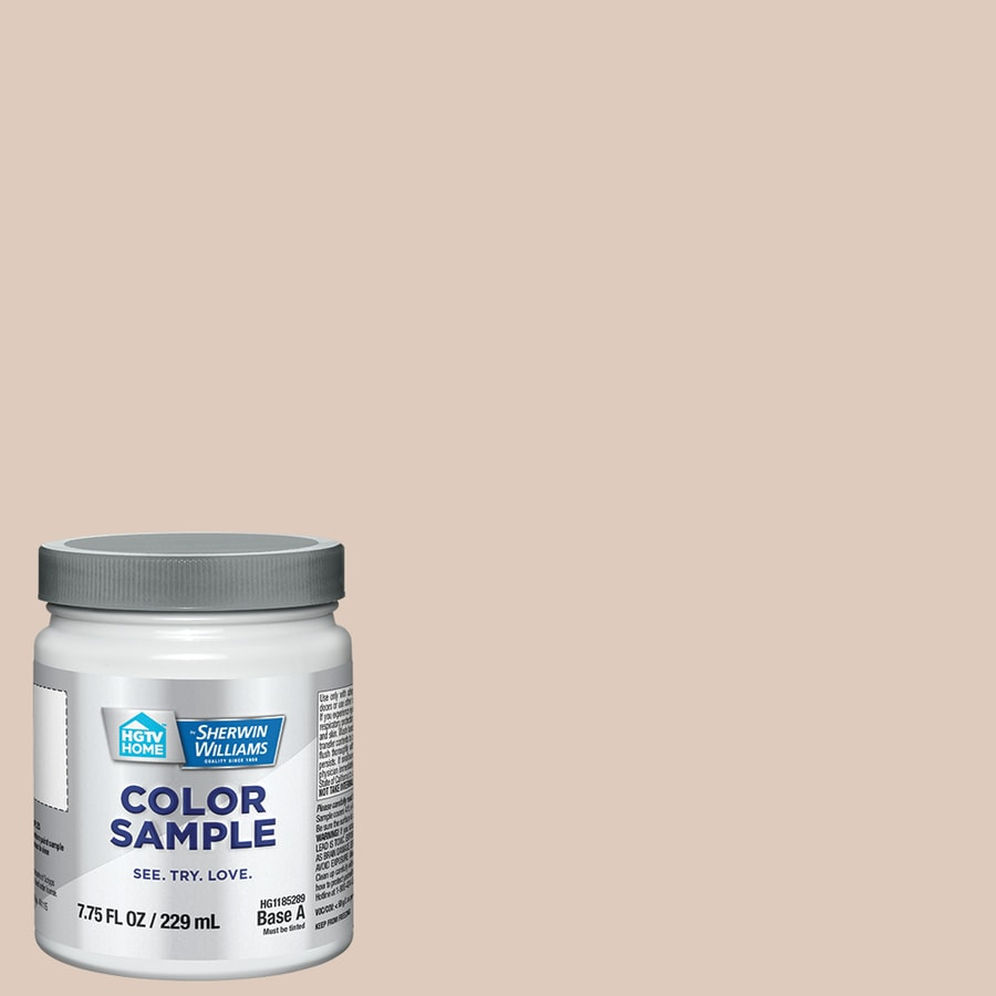 Hgtv Home By Sherwin Williams Malted Milk Interior Paint Sample Actual Net Contents 8 Fl Oz