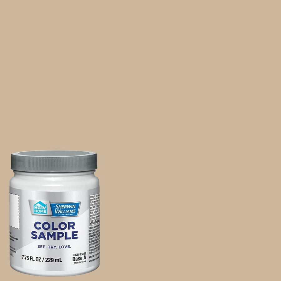 Hgtv home by sherwin williams macadamia interior paint sample actual net contents 8