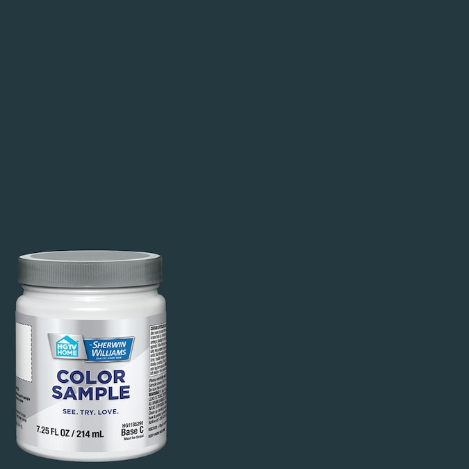 HGTV HOME by Sherwin-Williams Dark Night paint color is a moody deep blue to try. #paintcolors #sherwinwilliamsdarknight #darkbluepaint