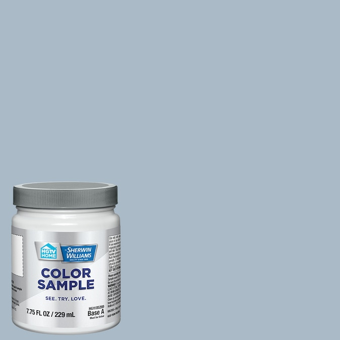 Sherwin-Williams Ocean's Side is a lovely dusty blue paint color. #sherwinwililamsoceansside #bluepaintcolors #paintcolors