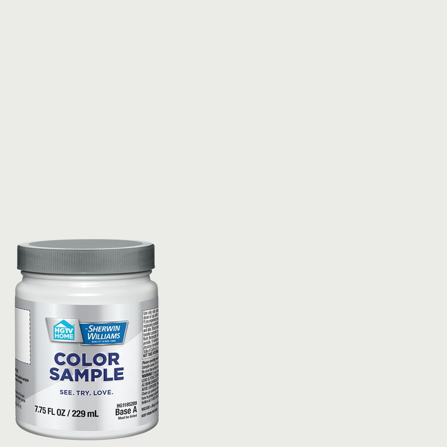 HGTV HOME by Sherwin-Williams White Cotton Interior Eggshell Paint Sample (Actual Net Contents: 31-fl oz)