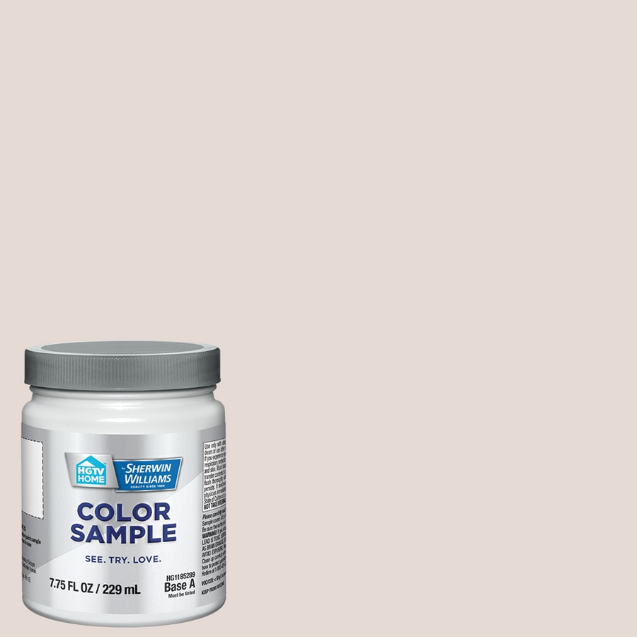 Hgtv home by sherwin williams white sheet interior paint sample actual net contents 8 fl oz