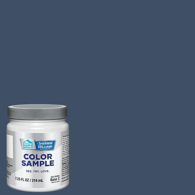 HGTV HOME by Sherwin-Williams Indigo Batik blue paint color. #sherwinwilliamsindigobatik #bluepaintcolors #paintcolors #indigoblue