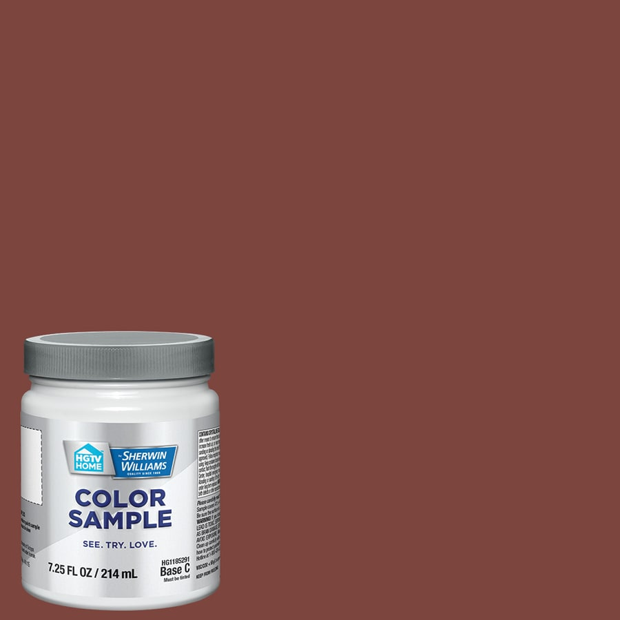 Hgtv Home By Sherwin Williams Red Barn Interior Paint Sample Actual Net Contents 8 Fl Oz