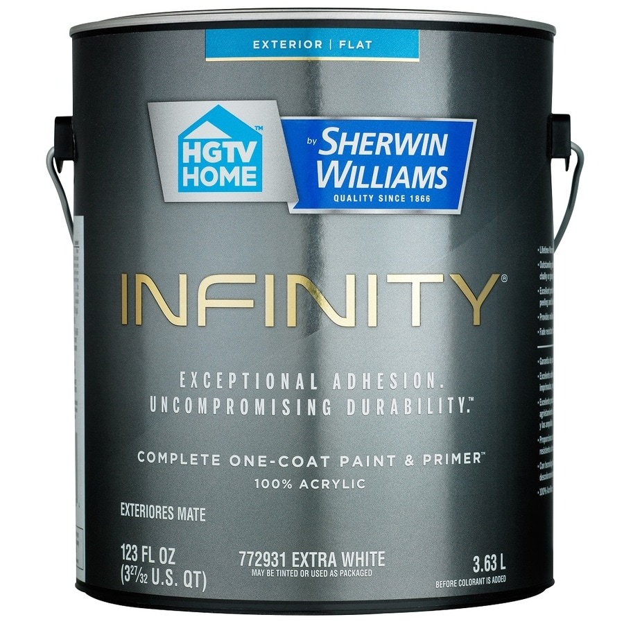 HGTV HOME by Sherwin-Williams Infinity Tintable Flat Acrylic Exterior Paint (Actual Net Contents: 123 Fluid Oz.)