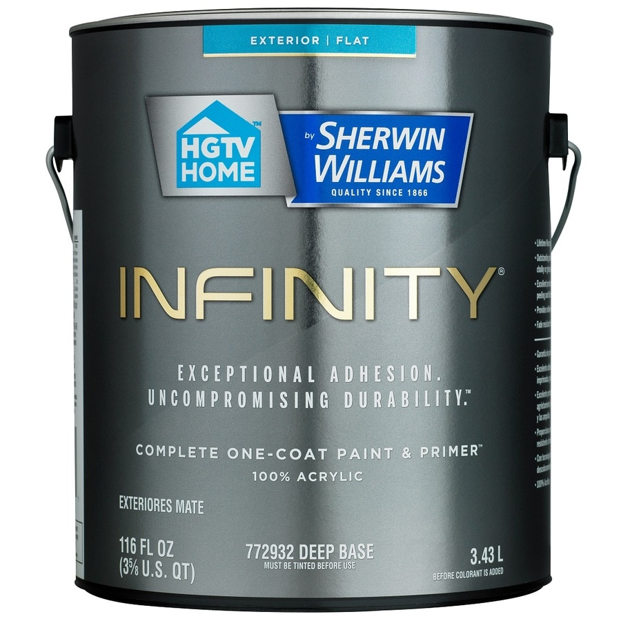 HGTV HOME By Sherwin Williams Infinity Tintable Flat Acrylic Exterior Paint  (Actual Net Contents