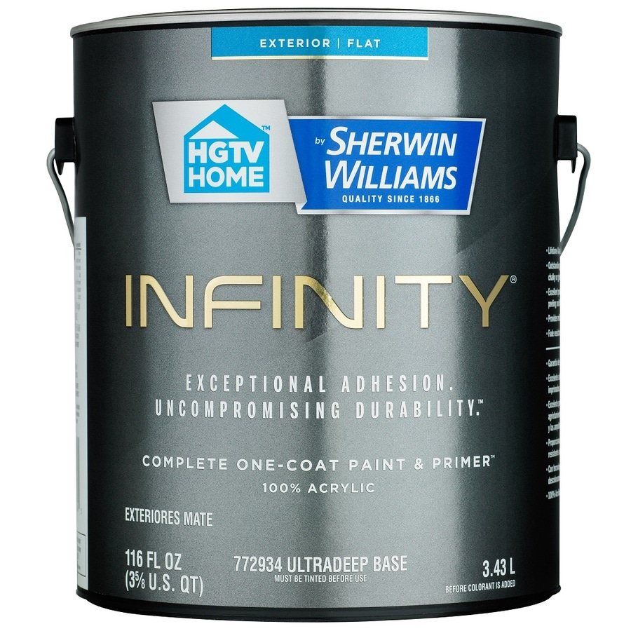 HGTV HOME by Sherwin-Williams Infinity Tintable Flat Acrylic Exterior Paint (Actual Net Contents: 116 Fluid Oz.)