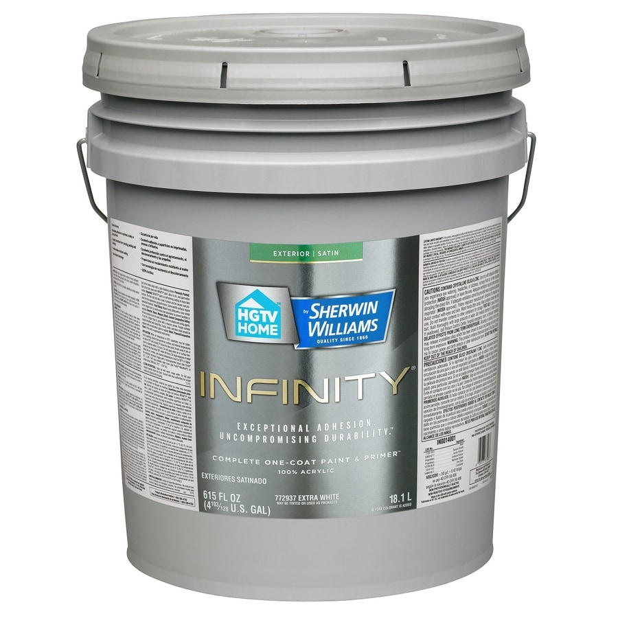 Shop Hgtv Home By Sherwin Williams Infinity Tintable Satin Acrylic Exterior Paint Actual Net