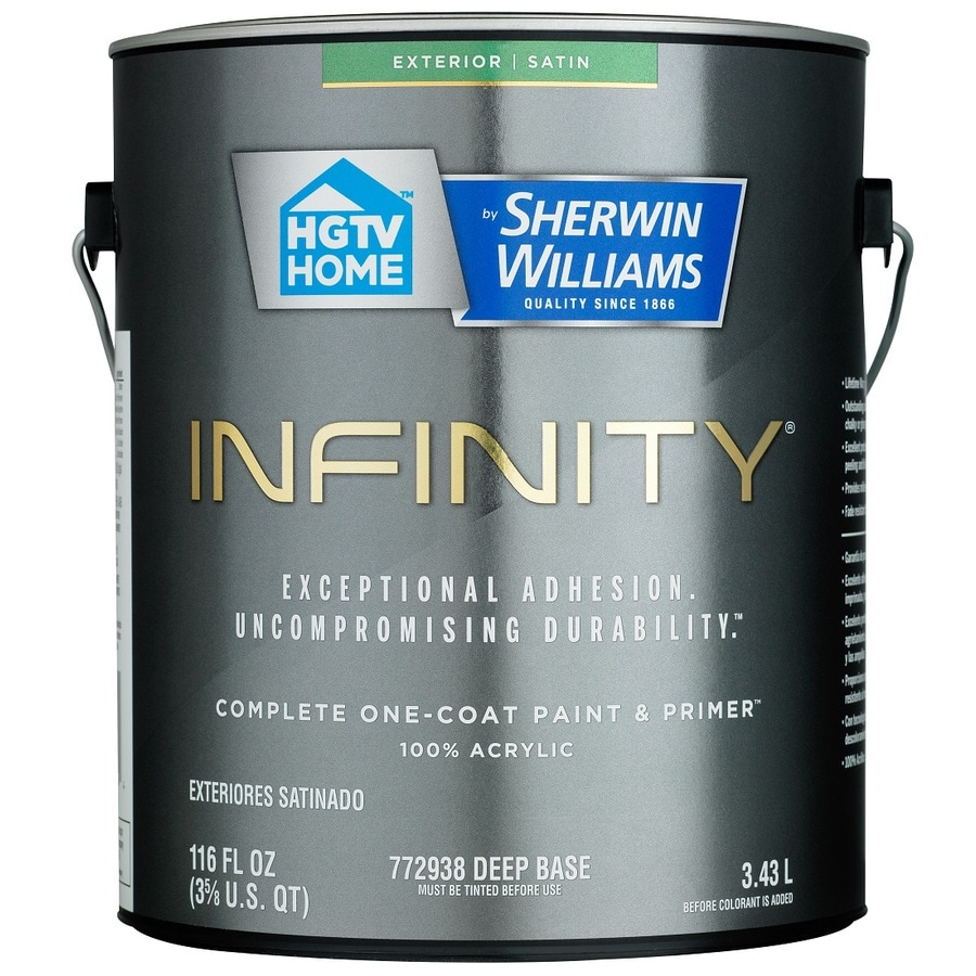 HGTV HOME by Sherwin-Williams Infinity Tintable Satin Acrylic Exterior Paint (Actual Net Contents: 116 Fluid Oz.)