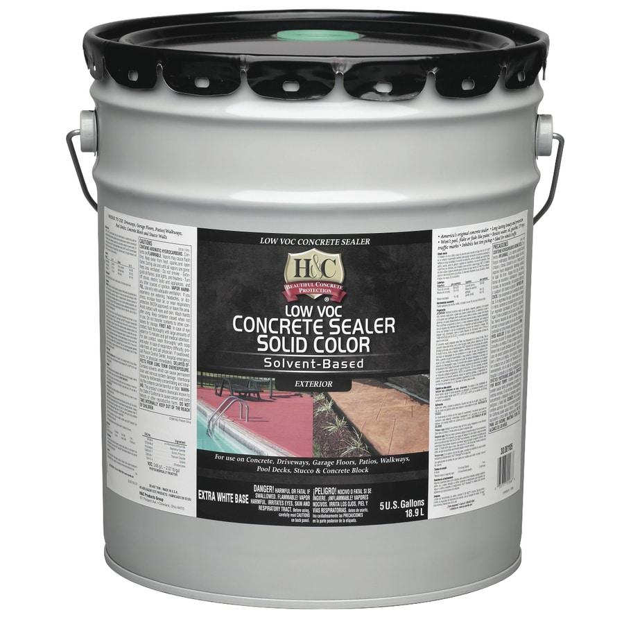 H Amp C 5 Gallon Solvent Based Concrete Sealer At Lowes Com