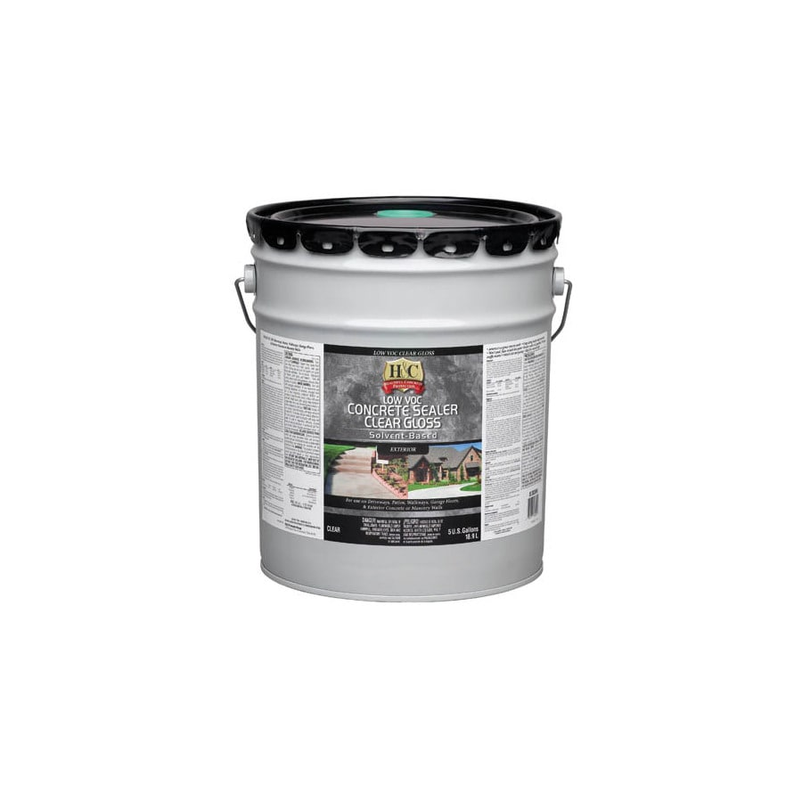 H&C 5-Gallon Clear Gloss Solvent-Based Concrete Sealer
