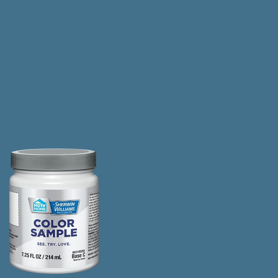 HGTV HOME by Sherwin-Williams Earthwise Blue Interior Satin Paint Sample (Actual Net Contents: 8-fl oz)