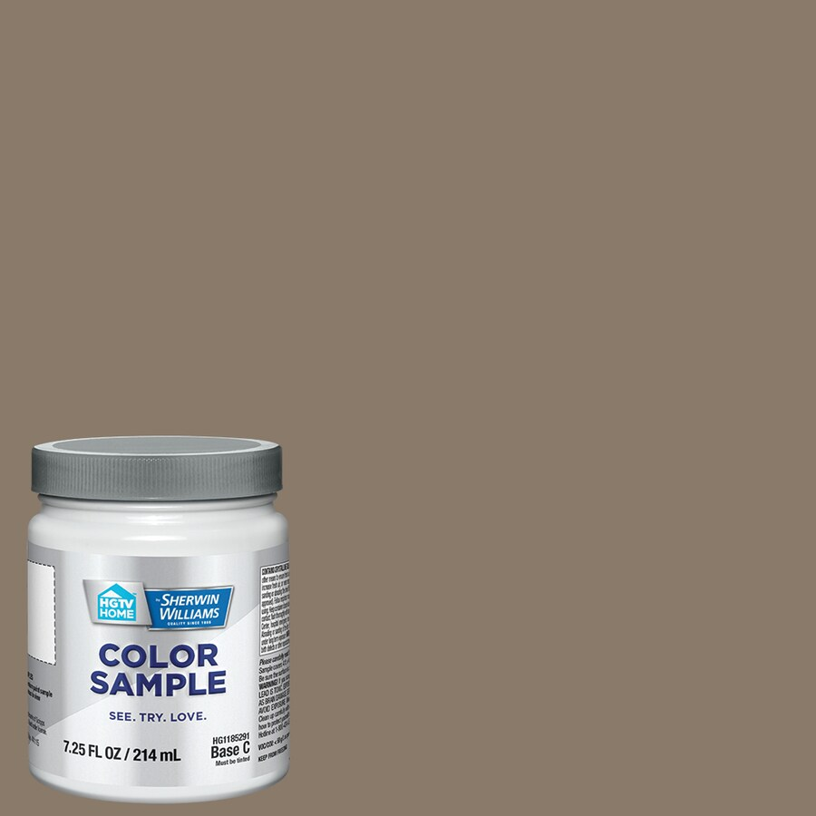 HGTV HOME by Sherwin-Williams Virtual Taupe Interior Satin Paint Sample (Actual Net Contents: 7.75-fl oz)