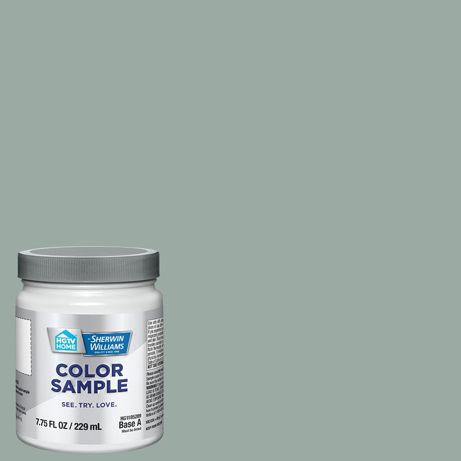 HGTV HOME by Sherwin-Williams Desert Lake Interior Satin Paint Sample (Actual Net Contents: 7.75-fl oz)