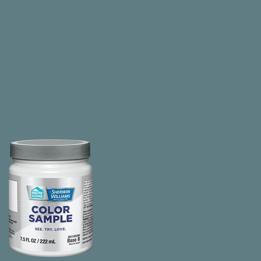 Hgtv Home By Sherwin Williams Aquamarined Interior Paint Sample Actual Net Contents 8