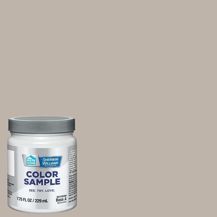 HGTV HOME by Sherwin-Williams Anew Gray Interior Satin Paint Sample (Actual Net Contents: 7.75-fl oz)