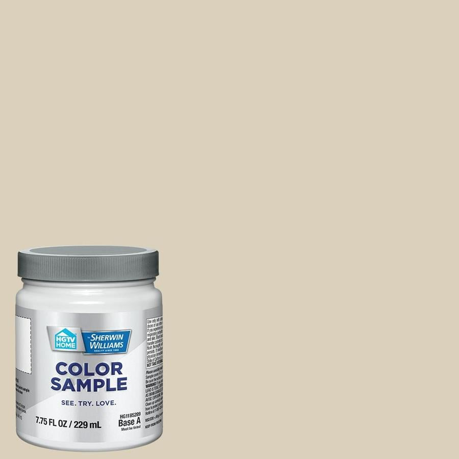HGTV HOME by Sherwin-Williams Canvas Tan Interior Satin Paint Sample (Actual Net Contents: 7.75-fl oz)
