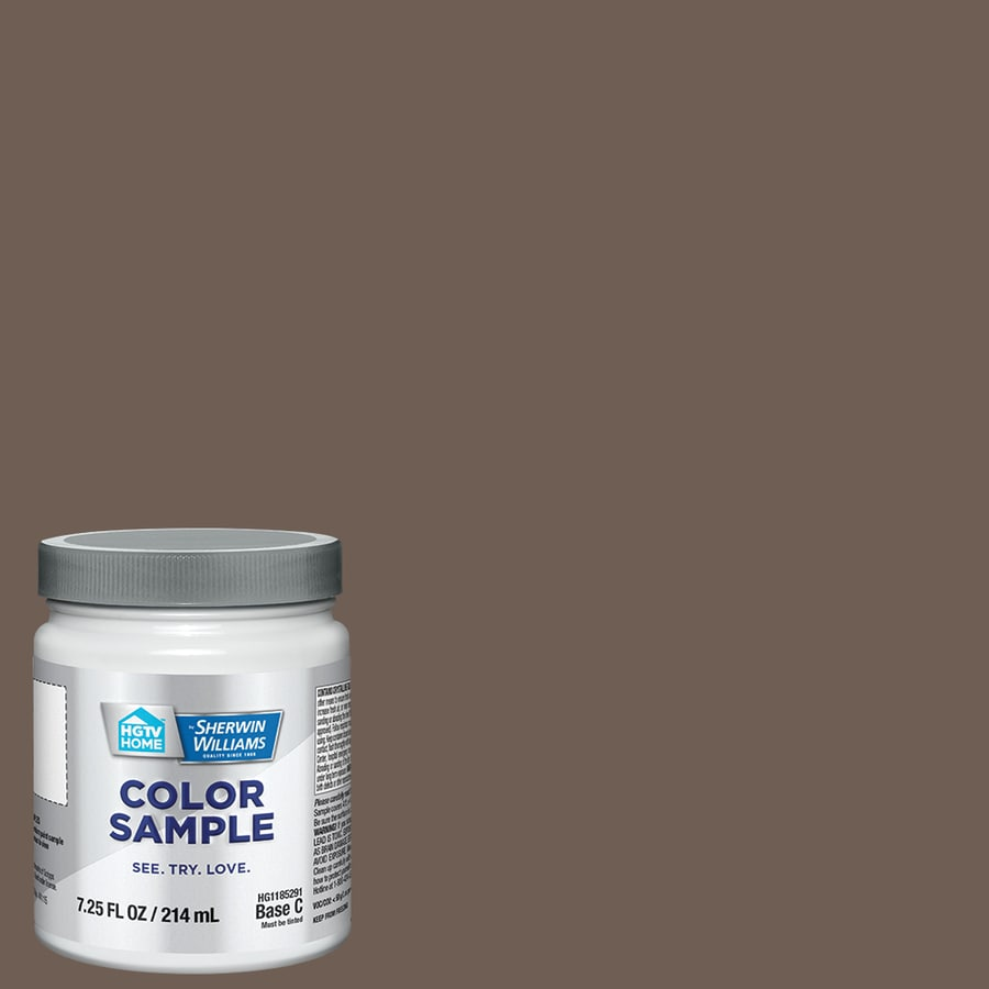 HGTV HOME by Sherwin-Williams Homestead Brown Interior Satin Paint Sample (Actual Net Contents: 7.75-fl oz)
