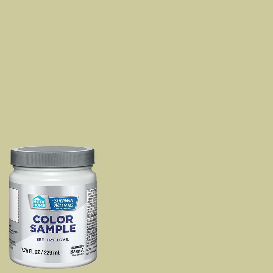 HGTV HOME by Sherwin-Williams Kiwifruit Interior Satin Paint Sample (Actual Net Contents: 7.75-fl oz)