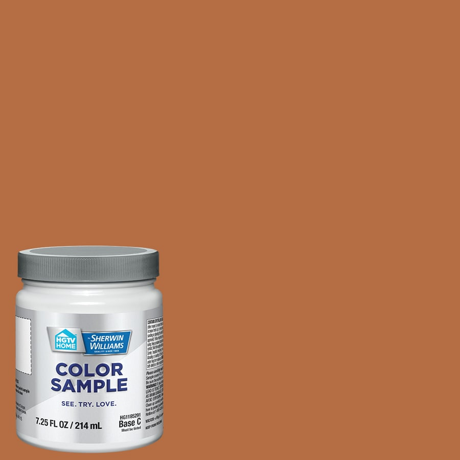 HGTV HOME by Sherwin-Williams (HGSW2102) Terra Spice Interior Satin Paint Sample (Actual Net Contents: 8-fl oz)