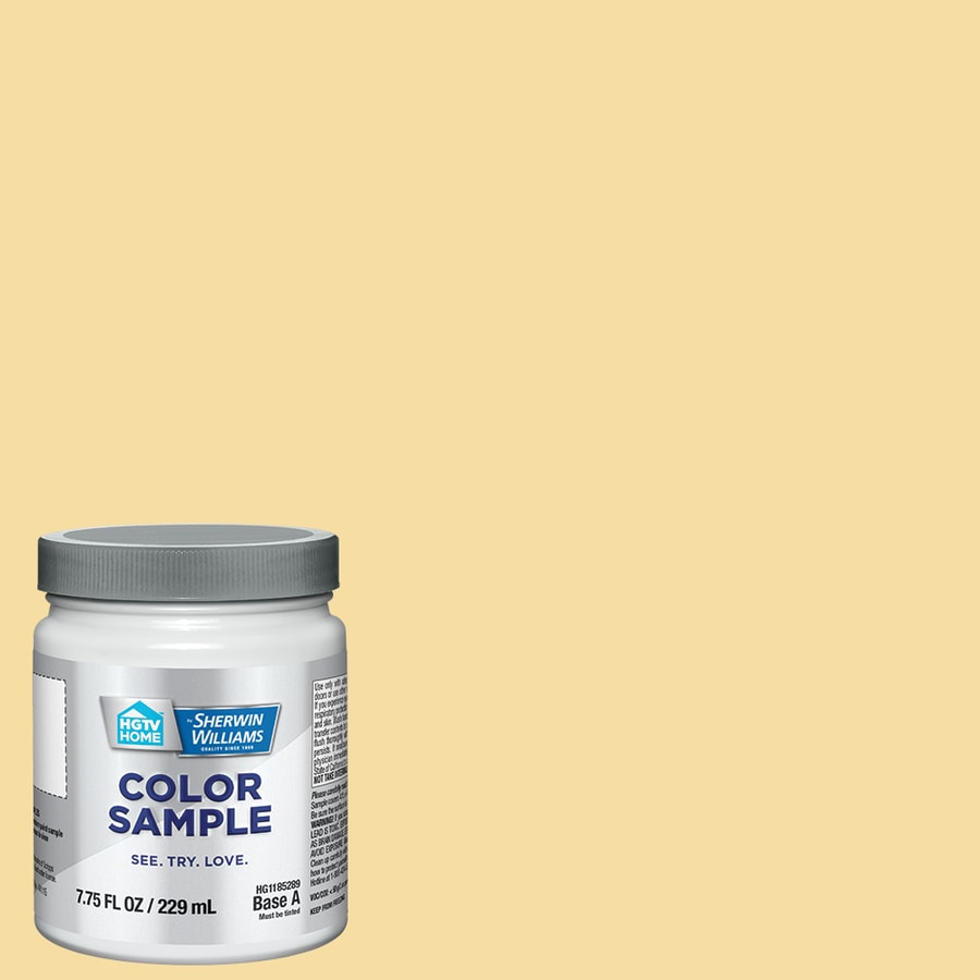 HGTV HOME by Sherwin-Williams Butter Up Interior Satin Paint Sample (Actual Net Contents: 7.75-fl oz)