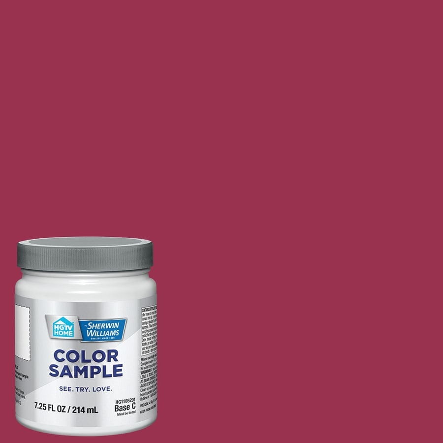 HGTV HOME by Sherwin-Williams (HGSW1031) Cerise Interior Satin Paint Sample (Actual Net Contents: 8-fl oz)