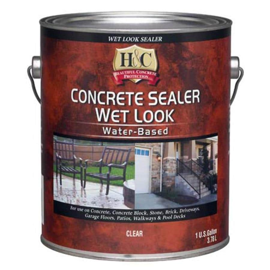 H&C H&C Concrete Sealer Wet Look Water-Based (Actual Net Contents: 128-fl oz)