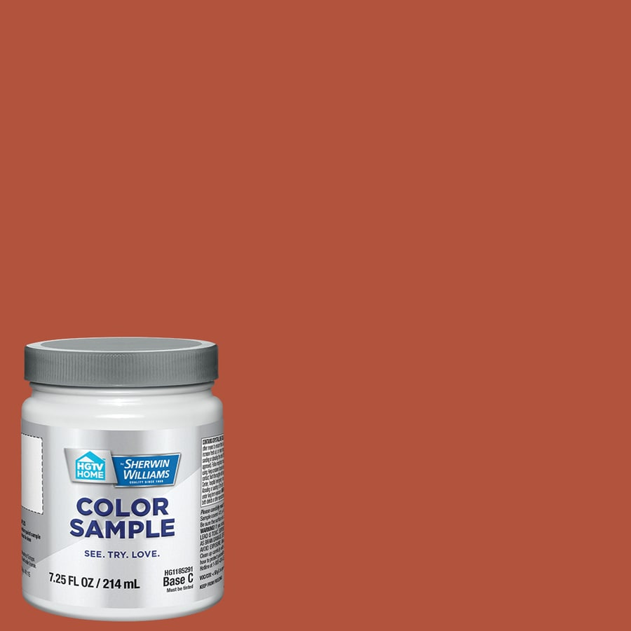 HGTV HOME by Sherwin-Williams (HGSW1102) Fire Roasted Interior Satin Paint Sample (Actual Net Contents: 8-fl oz)