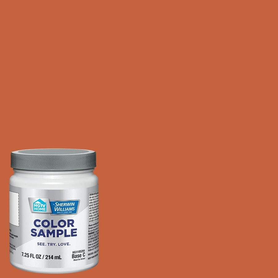 HGTV HOME By Sherwin Williams Robust Orange Interior Paint Sample (Actual  Net Contents: