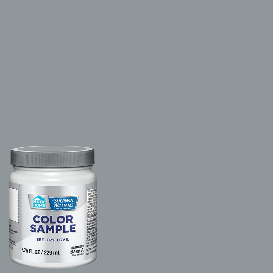 HGTV HOME by Sherwin-Williams (HGSW1453) STEELY GRAY Interior Satin Paint Sample (Actual Net Contents: 8-fl oz)