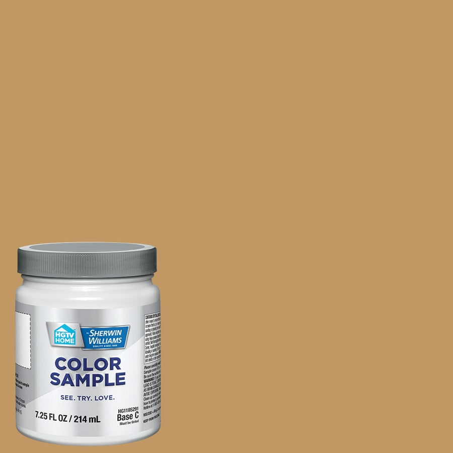 HGTV HOME by Sherwin-Williams (HGSW2173) MANNERED GOLD Interior Satin Paint Sample (Actual Net Contents: 8-fl oz)