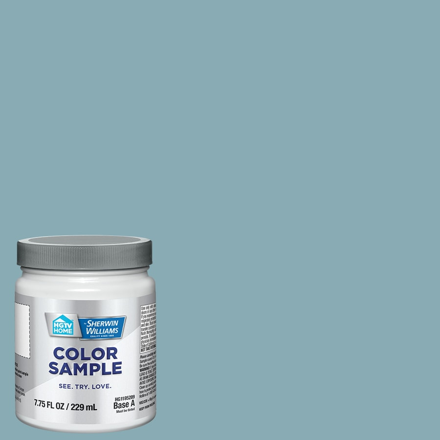 HGTV HOME by Sherwin-Williams (HGSW2344) Swimming Hole Interior Satin Paint Sample (Actual Net Contents: 8-fl oz)