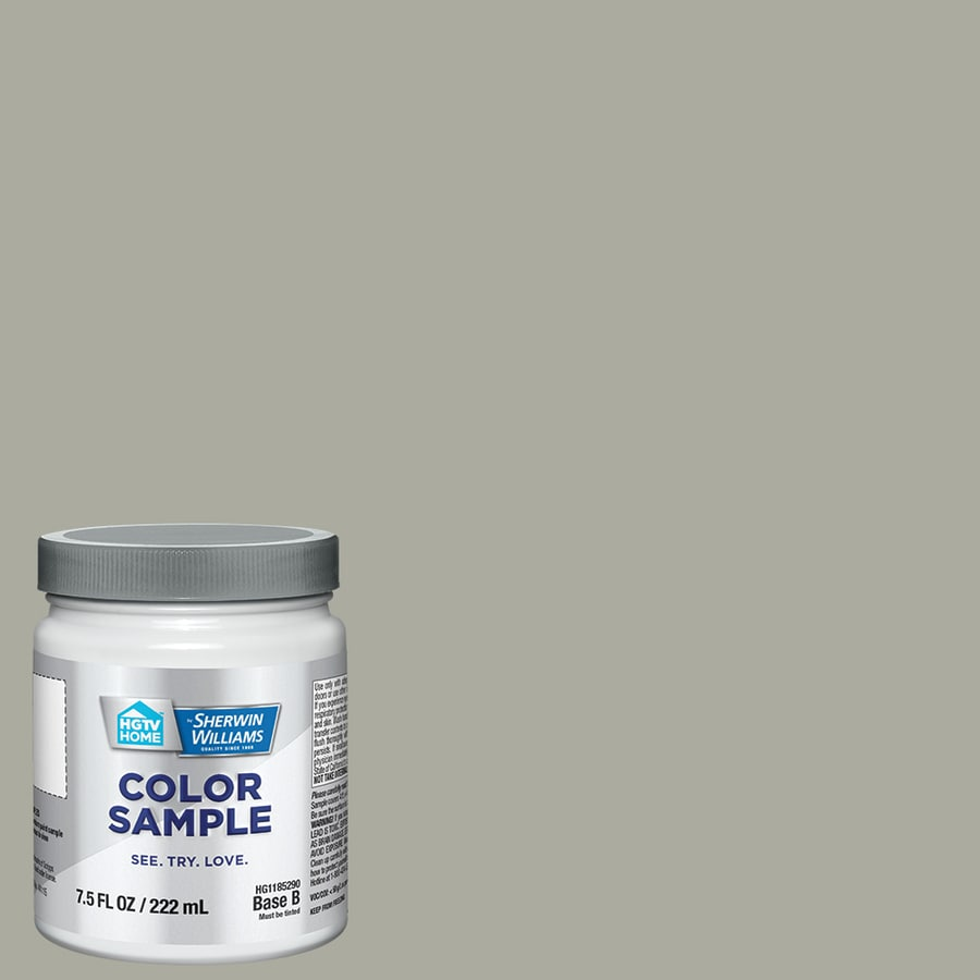 HGTV HOME by Sherwin-Williams (HGSW3265) ESCAPE GRAY Interior Satin Paint Sample (Actual Net Contents: 8-fl oz)
