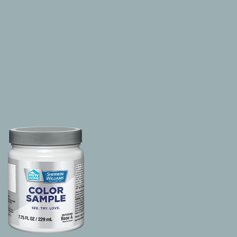 HGTV HOME by Sherwin-Williams (HGSW3305) Interesting Aqua Interior Satin Paint Sample (Actual Net Contents: 8-fl oz)