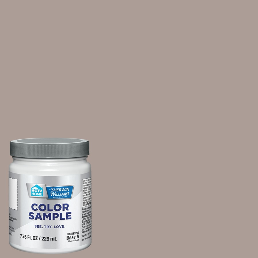 HGTV HOME by Sherwin-Williams (HGSW3435) TRULY TAUPE Interior Satin Paint Sample (Actual Net Contents: 8-fl oz)