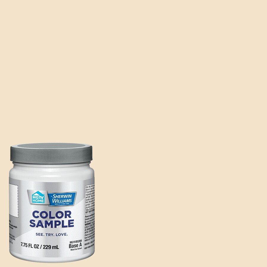 HGTV HOME by Sherwin-Williams (HGSW4038) Vanillin Interior Satin Paint Sample (Actual Net Contents: 8-fl oz)