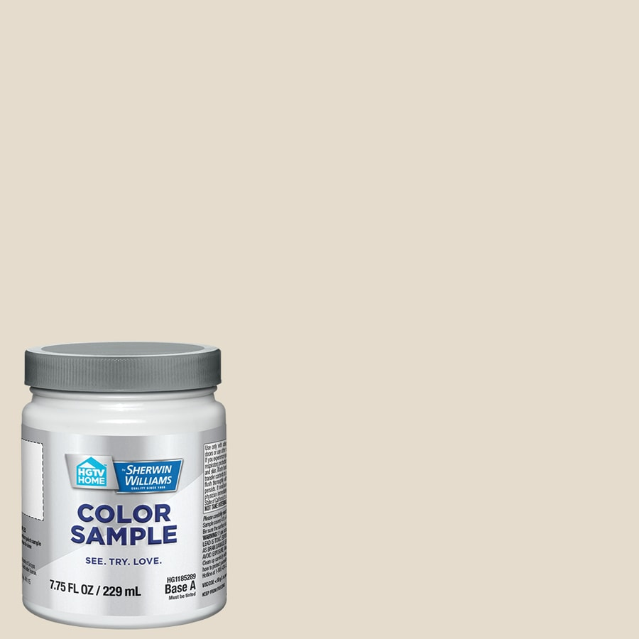 HGTV HOME by Sherwin-Williams (HGSW4044) DIVINE WHITE Interior Satin Paint Sample (Actual Net Contents: 8-fl oz)