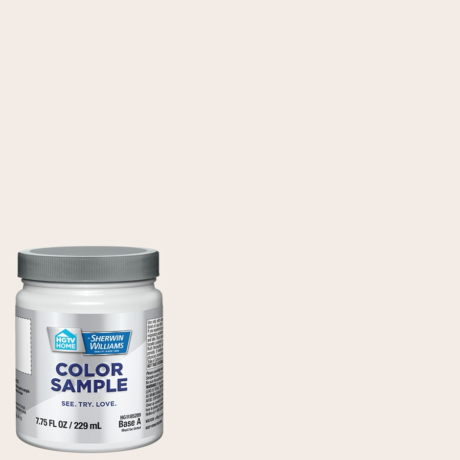 HGTV HOME by Sherwin-Williams (HGSW4069) IBIS WHITE Interior Satin Paint Sample (Actual Net Contents: 8-fl oz)