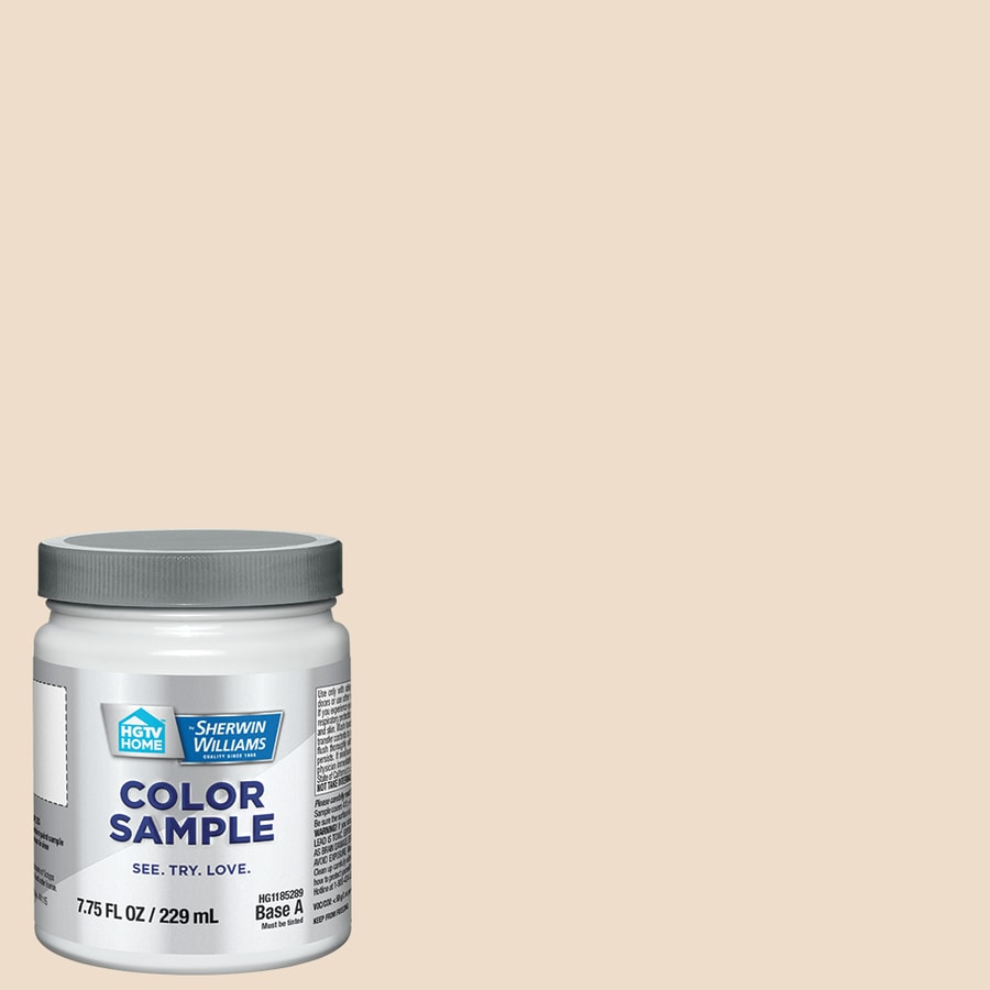 HGTV HOME by Sherwin-Williams (HGSW4072) INTRICATE IVORY Interior Satin Paint Sample (Actual Net Contents: 8-fl oz)