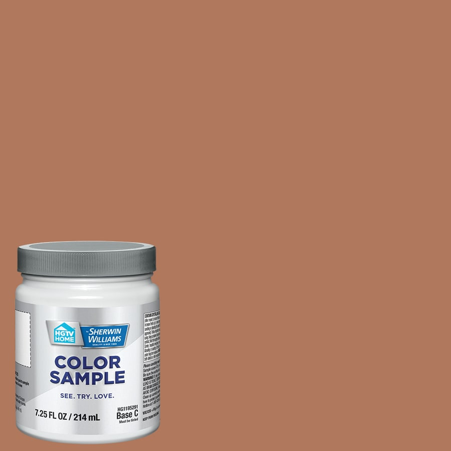 HGTV HOME by Sherwin-Williams (SW7702) SPICED CIDER Interior Satin Paint Sample (Actual Net Contents: 8-fl oz)